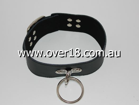 SirN Adjustable Bondage Collar with O-Ring