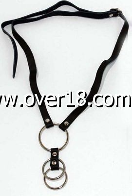 Skin Two O-Ring Cock Cage   Leather Harness