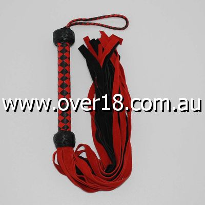 Snake Whips Black and Red Flogger