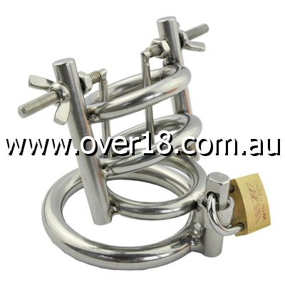 Stainless Steel Penis Stretcher  Male Chastity Device