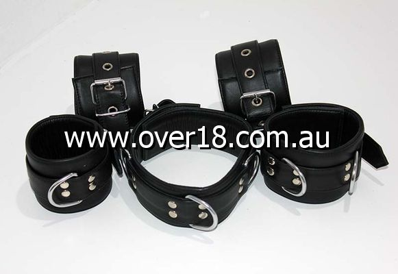 Submissives Complete Leather Restraint Set