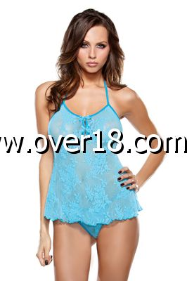 Tease Stretch Lace Cami Top  G-String