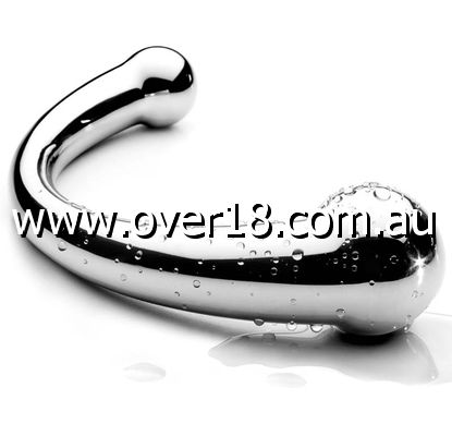 The Chrome Crescent Double Ended Dildo