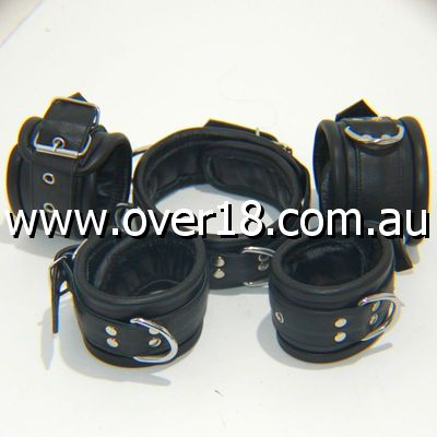 Training Of O Leather Wrist  Ankle Restraints
