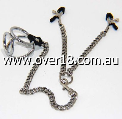 Welled Up Nipple Clamps  Cock Ring