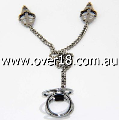 Welled Up Clover Clamps  Cock Ring