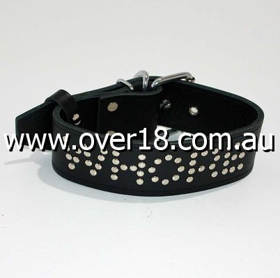 WHORE Leather Bondage Collar