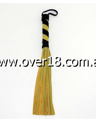 Yellow Suede Flogger with Wrist Loop